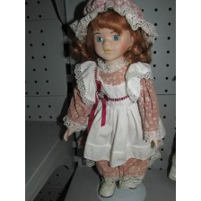 Muñeca de Porcelana Pelirroja Porcelana
