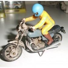 Moto Gris con Piloto Guisval